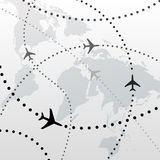 World Airplane Flight Travel Plans Connections Royalty Free Stock Image