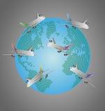 World airplane Royalty Free Stock Photos