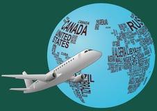 World airplane Stock Photography