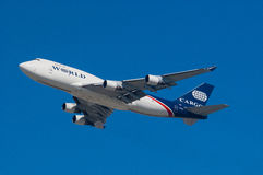 World Airways Boeing 747 Image stock