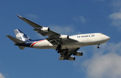 World Airways cargo jet Stock Photo