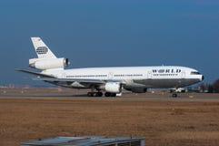 World Airways McDonnell Douglas gelijkstroom-10-30 Royalty-vrije Stock Afbeeldingen