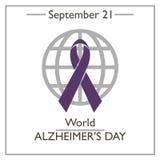 World Alzheimers Day, September 21. Vector illustration for you design, card, banner, poster and calendar royalty free illustration