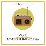 World Amateur Radio Day, April 18. Vector illustration for you design, card, banner, poster and calendar Royalty Free Stock Photos