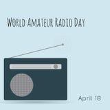 World amateur radio day. Radio tower Royalty Free Stock Photos