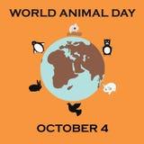 World animal day stock illustration