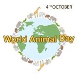 World Animal Day Concept royalty free illustration