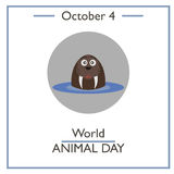 World Animal Day, October 4 Stock Photo
