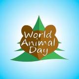 World Animal Day vector illustration Stock Photos