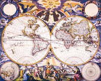 World Antique Map royalty free stock photos