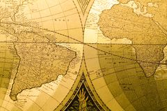 World Antique Map Royalty Free Stock Image