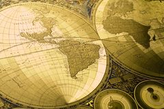 World Antique Map Royalty Free Stock Photos