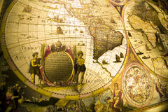 World Antique Map. Map is a drawing or plan of the surface of the earth that shows countries, mountains, roads, etc Stock Photography