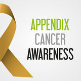 World appendix cancer day awareness poster eps10. World appendix cancer day awareness poster Stock Image