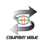 World and arrows. Logo with world and arrows Stock Images