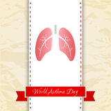 World Asthma Day background Stock Image