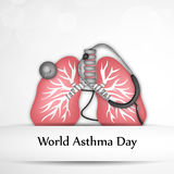 World Asthma Day Background. Illustration of elements for World Asthma Day Royalty Free Stock Image