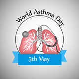 World Asthma Day Background. Illustration of elements for World Asthma Day Royalty Free Stock Images