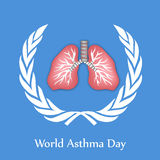 World Asthma Day Background Stock Images