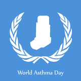 World Asthma Day Background. Illustration of elements for World Asthma Day Royalty Free Stock Photo