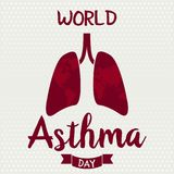 World Asthma Day. Card or background. vector illustration Royalty Free Stock Photo