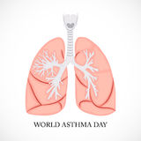 World Asthma Day. Creative abstract for World Asthma Day with creative illustration in background Stock Photos