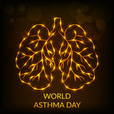 World Asthma Day. Creative abstract for World Asthma Day with creative illustration in background Royalty Free Stock Photos