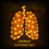 World Asthma Day. Creative abstract for World Asthma Day with creative illustration in background Royalty Free Stock Images