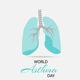 World Asthma Day. Creative abstract for World Asthma Day with creative illustration in background Stock Image