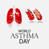 World Asthma Day. Creative abstract for World Asthma Day with creative illustration in background Royalty Free Stock Photography