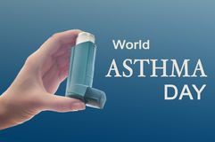 World Asthma Day. On the first Tuesday of May Stock Image