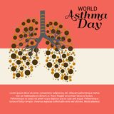 World Asthma Day. Illustration of a Background For World Asthma Day royalty free illustration