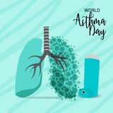 World Asthma Day. Illustration of a Background For World Asthma Day Stock Photography