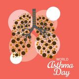 World Asthma Day. Illustration of a Background For World Asthma Day stock illustration