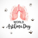 World Asthma Day. Illustration of a Background For World Asthma Day Stock Images