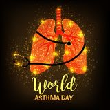 World Asthma Day. Illustration of a Background For World Asthma Day Royalty Free Stock Images
