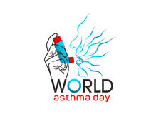 World asthma day. An illustration represent world asthma day isolated in white background Royalty Free Stock Photos