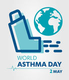 World Asthma Day logo lung hospital clinic icon With Inhaler care hands heart on  healthcare Background 2 may. Stock Images