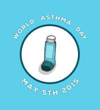 World asthma day vector Royalty Free Stock Photos