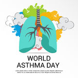 World Asthma Day. Stock Image