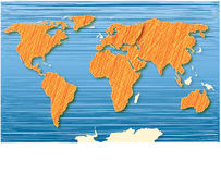 World Atlas blue Stock Images