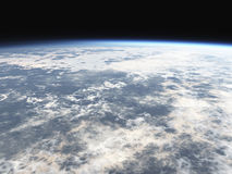 World atmosphere. 3d with clouds stock illustration