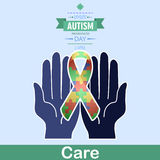 World autism awareness day 11. April is autism care month is celebrated every 2nd Royalty Free Stock Photos