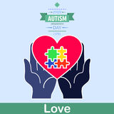 World autism awareness day 12. April is autism care month is celebrated every 2nd Stock Image