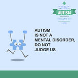 World autism awareness day 17. April is autism care month is celebrated every 2nd Stock Photos