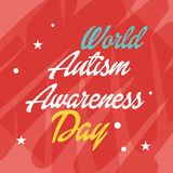 World Autism Awareness Day. Illustration of a Banner for World World Autism Awareness Day Royalty Free Stock Photo