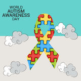 World Autism Awareness Day. Illustration of a Banner for World World Autism Awareness Day Stock Images