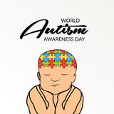 World Autism Awareness Day. Illustration of a Banner for World World Autism Awareness Day Stock Photo