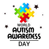 World Autism Awareness Day. Illustration of a Banner for World World Autism Awareness Day Royalty Free Stock Photos