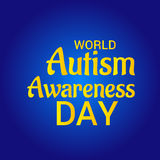 World Autism Awareness Day. Illustration of a Banner for World World Autism Awareness Day Royalty Free Stock Image